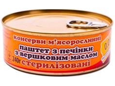 Паштет 0.01 240г печінка з вершковим маслом ж.б