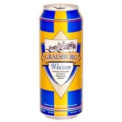 Пиво Gralsburg 0.5л світле нефільтроване wheat beer
