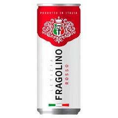 Вино Фраголіно Letizia 0.33л rosso напів.ігристе