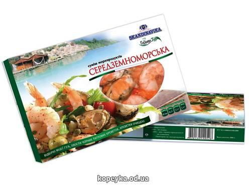 Суміш морепродуктів Скандінавіка 300г середземноморського