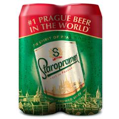 Пиво Старопрамен 4х0.5л з.б
