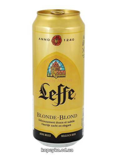 Пиво Leffe 0.5л blonde ж.б