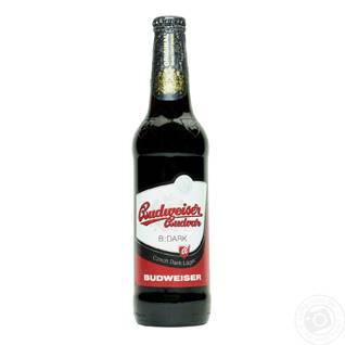 Пиво Budweiser (Будвайзер)0,5л темний