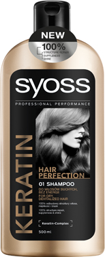 Шампунь Syoss 500мл keratin hair perfection