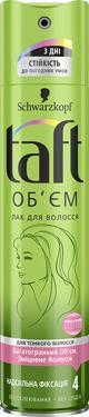 Лак д.волосся Taft 250мл зелений 4 ступiнь об`єм
