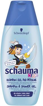 Шампунь гель д.душу Schauma kids 225мл д.волосся та кожи дітей