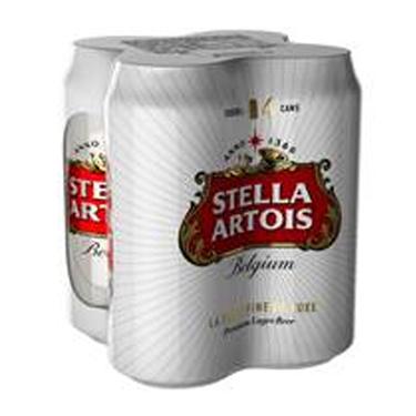 Набiр Стелла Артуа пиво 4х0.5л ж.б