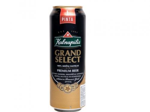 Пиво Kalnapilis Grand Select 0.568л з.б