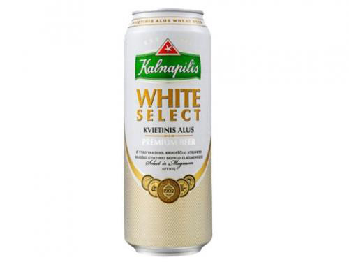Пиво Kalnapilis White Select  0.568 л  з б