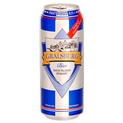 Пиво Gralsburg 0.5л світле фільтроване пастеризоване