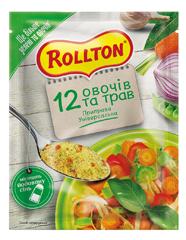 Приправа Роллтон 60г універсальна 12 овочів і трав