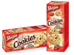 Печиво Bergen Cookies 135г білий шоколад журавлина