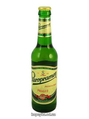 Пиво Старопрамен 0.33л