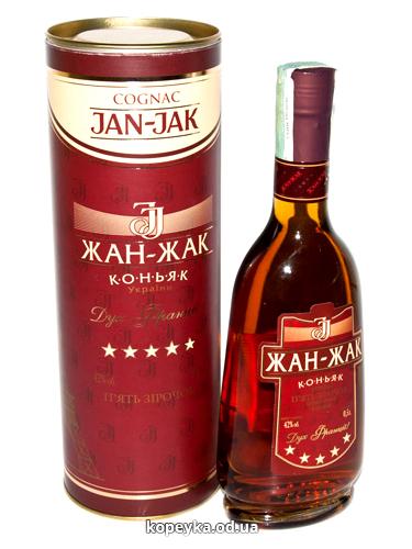 Коньяк Жан-Жак 0.5л червоний 5 зірок тубус