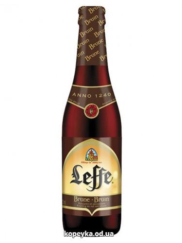 Пиво Leffe 0.33л brune