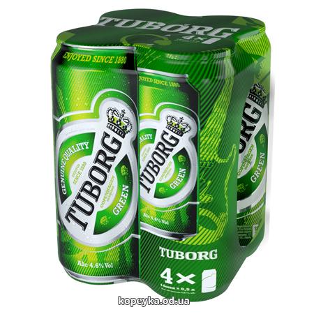 Набір пиво Туборг 4х0.5л грін ж.б