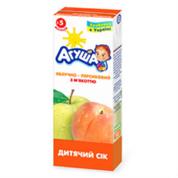 Сок Агуша 200мл яблоко персик витаминизированный мякоть