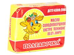 Масло Полтавочка 200г 80% питательное экстра