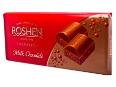 Шоколад Рошен 85г пористий темний молочний