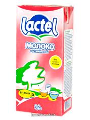 Молоко Лактель 1л 3.2% витамин Д т.б