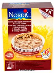 Пластівці Нордік 600г 5 зернових