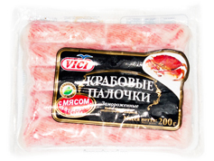 Крабові палички Вічі 200г м`ясо краба
