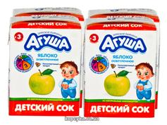 Сок Агуша 200мл яблоко т.п