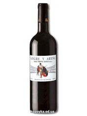 Вино Sangre y Arena 0.75л тинто семідульче червоне п.сладкое