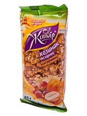 Козинаки Жайвір 65г асорті фрукти горіх