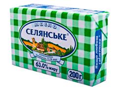 Масло Селянське 200г 63% бутербродное