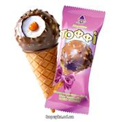 Морозиво Рудь 70г тоффі ріжок