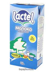 Молоко Лактель 1л 0.5% вітамін Д т.б