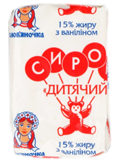 Сирок Слов`яночка 90г 15% дитячий ваніль