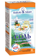Сіль морська Salute di Mare 750г ламінарій картон