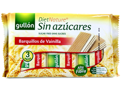 Вафлі Gullon 210г diet nature barquinata ваніль