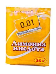 Лимонна кислота 0.01 25г