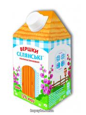 Вершки Селянськi 500мл 12% т.п