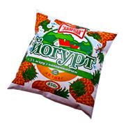 Йогурт Злагода 400мл 1.5% ананас п.е