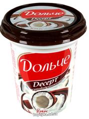 Творожный десерт Дольче  Президент 400г кокос шоколад