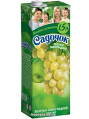 Нектар Садочок 1.45л яблуко виноград
