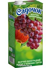 Нектар Садочок 0.95л яблуко виноград ч.з