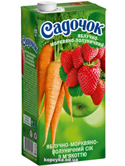 Сiк Садочок 0.95л яблуко морква полуниця