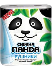Рушники паперові Сніжна панда 2 шт