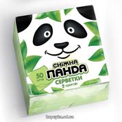 Серветки Сніжна панда 50 шт зеленi 24х24