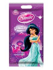 Серветки вологi Smile 15шт принцеси