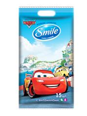 Серветки вологi Smile 15шт тачки