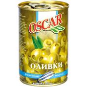 Оливки Оскар 300г з анчоусом