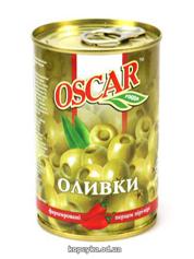Оливки Оскар 300г з перцем piri piri
