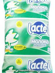 Молоко Лактель 900гр 2.5% вітамін Д т.ф