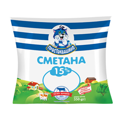 Сметана Веселий пастушок 400г 15% п.е